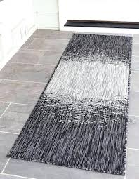 charcoal gray 2 x 6 outdoor modern runner rug area rugs erugs modern runner rugs modern