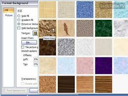 Create A Texture Background In Powerpoint 2007 Youtube