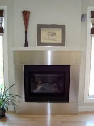 stainless steel trim for fireplace by ridalco contemporary living room