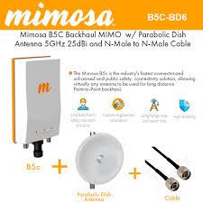 Mimosa Link Design Mimosa B5c Backhaul Mimo W Parabolic Dish Antenna 5ghz