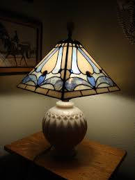 Lampshade On Vintage Base Delphi Artist Gallery Stained Glass