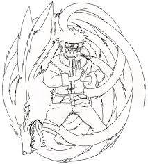 Small Picture Naruto Nine Tailed Fox Coloring Pages Naruto Printable Free