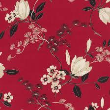 Red And Black Bedroom Wallpaper Red Black Cream 822519 Oriental Floral Rasch Vinyl