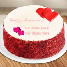 Flowers Wedding Anniversary Cake Edit Photo