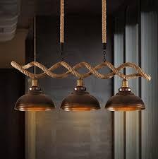 vintage pendant lighting fixtures. hemp rope edison loft style industrial vintage pendant lights with 3 fixtures for bar dining lighting p