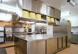 industrial kitchen furniture. Interesting Modern Industrial Kitchen Design With Stainless Steel Furniture And Table