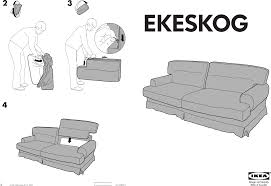 ikea ekeskog sofa bed cover assembly instruction