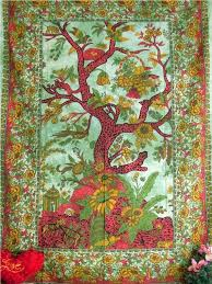 indian tapestry green tapestry wall