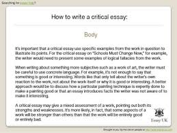 how to write a critical essay jpg cb  4 searching for essay