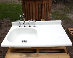 white kitchen sink with drainboard. White Porcelain Marvelous Kitchen Decoration Design Ideas Using Drainboard Farm Sinks : Charming Idea Sink With E
