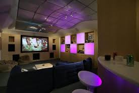 gameroom lighting. Illuminated Lighting Game Room Design Living With Black Chairs For Relax And Movie Also Bar Gameroom