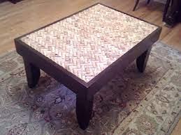 wine cork table unique coffee table