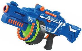 Elektra Blaze Storm <b>Soft Bullet</b> Automatic Gun, 40 Darts Included, Blue