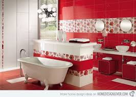 red bathroom color ideas. Perfect Red Tiles For Bathroom 30 Home Design Color Ideas With