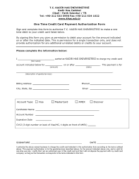 Credit Card Payment Plan One Time Credit Card Payment Authorization Form In Word And Pdf Formats