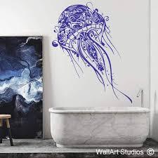 tribal decorative jellyfish wall art