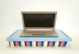 laptop lap desk or breakfast serving tray light blue with laptop lap desk or breakfast serving tray light blue with multicolor lycra pillow