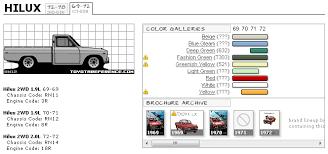 Toyota Hilux Color Spec Chart Torc Forums