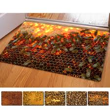Honeycomb 3D Thin Indoor Mats Rugs For Home Funny Bathroom Carpet ...