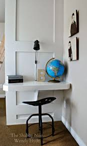The Shabby Nest: Clever Space-Saving Desk in My Little Boys' Room~