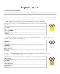 Weight Loss Worksheets Weight Loss Goal Setting Template Cryptomice Info