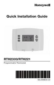 honeywell 1 week programmable thermostat rth221b1039 manual and honeywell 1 week programmable thermostat rth221b1039 1 week programmable thermostat installation manual english spanish