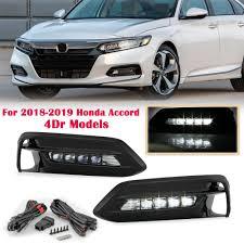 2018 Accord Fog Light Kit Details About Led Bumper Fog Lights Lamps Bezel W Switch Kit For Honda Accord Sedan 2018 2019