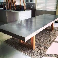 concrete kitchen table the most dining tables top concrete table plans picnic inside cement throughout kitchen decor