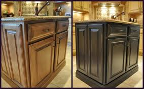 Interesting Painted Black Kitchen Cabinets Before And After Lovely To Simple Design