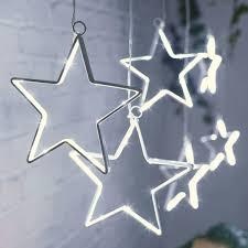 Led Lichterkette Sterne 90 Kaltweiße Leds Innen Und Außen