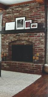 brick fireplaces fireplce drk mntel gret exmple red ideas pictures of painted grey white