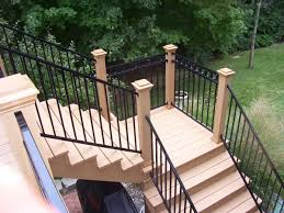 Outdoor Staircase outdoor stair railing ideas zampco 1077 by xevi.us