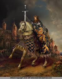 king arthur sword of power caliburn excalibur painting art equestrian classic