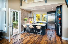 view in gallery light shade of the bar stools offers lovely contrast to dark kitchen backdrop v37