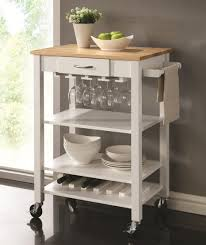 portable kitchen island ideas. Kitchen Cart White Stained Wood Rolling Trolley Portable Island Small Shelf And Ideas
