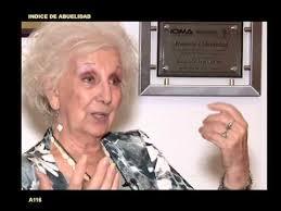 """Resultado de imagen para Abuelas de Plaza de Mayo muestran un alto grado de """"abuelidad"""" en Argentina"""