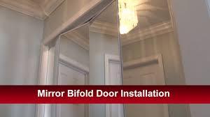 mirror bifold door installation