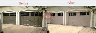 almond garage doorGarage Doors Before and AfterGarage Door Installation  Aladdin Doors
