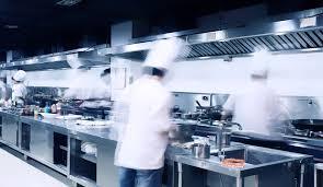 busy restaurant kitchen. Modern Hotel Kitchen And Busy Chefs. Restaurant T