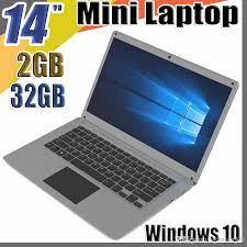 Satın Al 2018 Ücretsiz Kargo 14 Inç Mini Dizüstü Bilgisayar Windows 10 2 GB  RAM 32G ROM EMMC En Düşük Fiyatı Ile Ultrabook Tablet Laptop, TL2,208.07