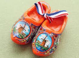 2 5 netherlands holland dutch wooden shoes tourist travel souvenir fridge magnet orange