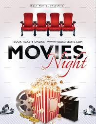 022 Template Ideas Movie Night Flyer Ulyssesroom