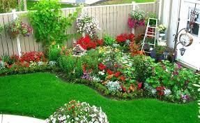 backyard gardens. Small Yard Landscape Ideas Cottage Flower Garden Design Inspiring Backyard And Gardens