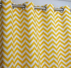 yellow and white chevron zig zag d with blackout lining one grommet top curtain panel 84 inches long x 50 inches wide co uk kitchen home