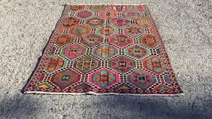 vintage bohemian turkish kilim rug hand made turkish rug kilim carpet rug turkish kilim rug