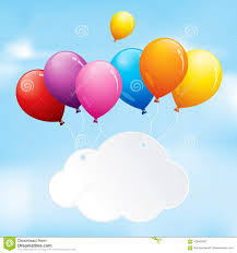 Colourful Balloons In A Cloudy Sky Stock Vector