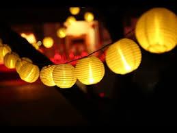 30 <b>LED</b> Warm White <b>Lantern</b> Ball Solar <b>String Lights</b> - YouTube