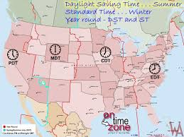 Dst Time Zone Map Of The Usa Whatsanswer