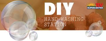 diy outdoor hand washing station
