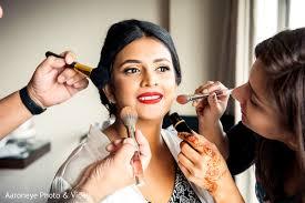 indian bride makeup getting ready makeup artist